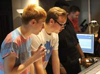 Students at Windmill Lane Studios