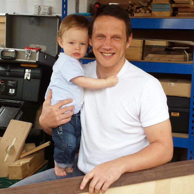 Furniture Maker & Medals for Excellence Winner, Kristian Dalziel and his son