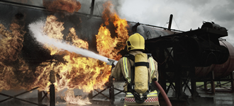RAF firefighters train to save lives and crews can study an apprenticeship in Aviation Operations with City & Guilds