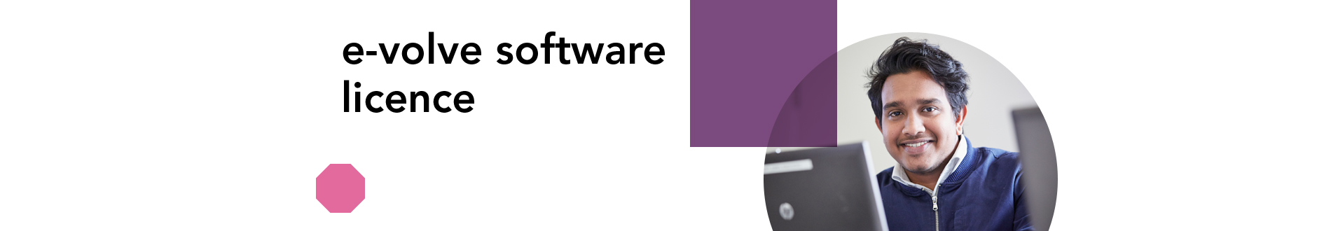 e-volve software license banner